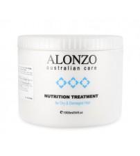 HẤP DẦU ALONZO CHO TÓC KHÔ YẾU HƯ TỔN NUTRITION TREATMENT 1000ML