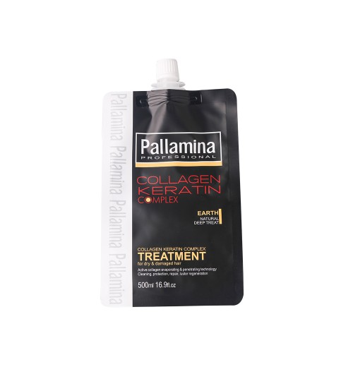 KEM HẤP DẦU SUÔN MƯỢT PALLAMINA COLLAGEN KERATIN COMPLEX TÚI 500ML